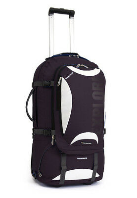 Explore Planet Earth Caracas Roller 65L Wheeled Travel Backpack & Daypack BLACK