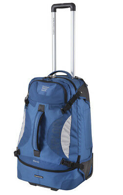 Explore Planet Earth Milan 85L Wheeled Travel Backpack- Navy