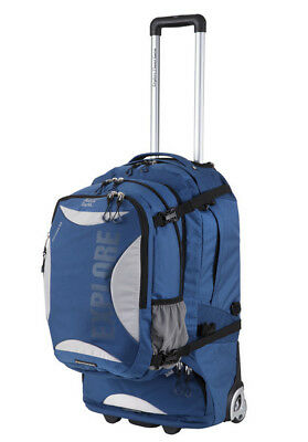 Explore Planet Earth Caracas Roller 65L Wheeled Travel Backpack & Daypack - Navy