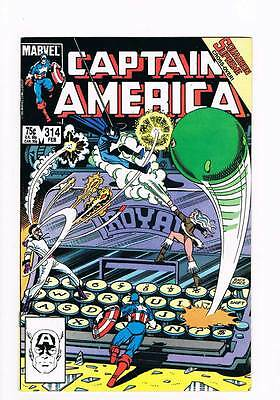 Captain America # 314 Asylum ! grade 9.0 scarce book !!
