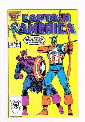 Captain America # 317 Death Throws ! grade 8.5 hot book !!
