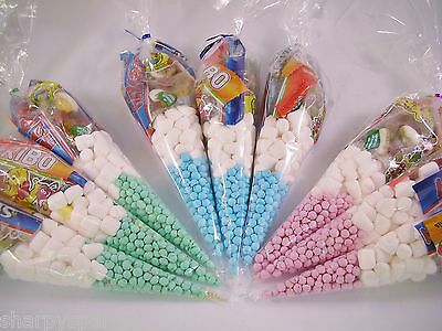 15 x Pre Filled Sweet Cones Kids Birthday Party Bags Starmix Tangfastics