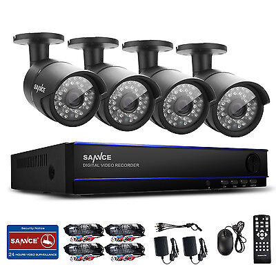 SANNCE 8CH 1080P HD DVR Outdoor Day/Night Video Office IR Security Camera System
