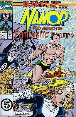 WHAT IF #27 Namor Fantastic Four...NM-..1991 Ron Marz..HTF Bargain!