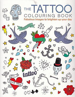 Tattoo Colouring Book (Paperback) New
