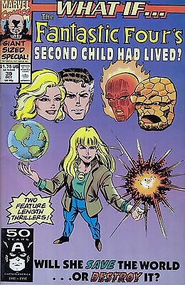 WHAT IF #30 Fantastic Four Giant Sized..VF..1991 Jim Valentino..HTF Bargain!