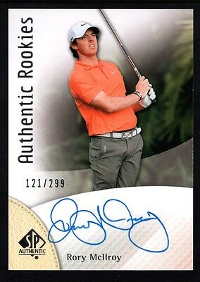 Rory Mcilroy 2014 Sp Authentic Rc Rookie On Card Autograph Golf Auto #121/299