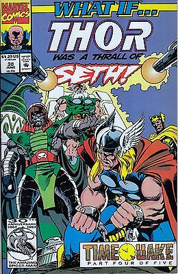 WHAT IF #38 Thor..VF/NM..1992 Roy Thomas ..HTF Bargain!
