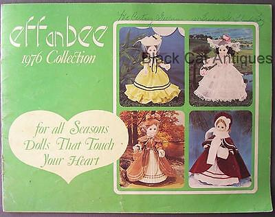 Original Vintage 1976 Effanbee Collection Doll Catalog