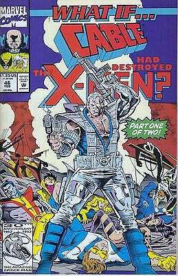 WHAT IF #46 ...Cable...Xmen... VF/NM ...1993... Kurt Busiek... HTF Bargain!