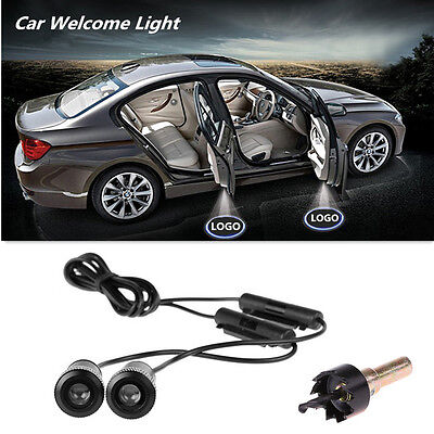 2x Universal LED Car Door Logo Laser Step Ghost Shadow Welcome Projector Light