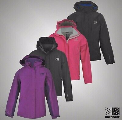 Junior Girls Boys Branded Karrimor Outdoor Urban Waterproof Jacket Size Age 7-13