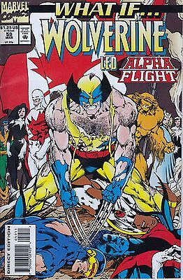 WHAT IF #59 ..Wolverine..Alpha Flight.. VF/NM..1994.. Simon Furman...  Bargain!