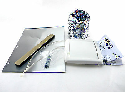 """New Broan NuTone WVK2A Wall Vent Kit Flexible Duct 5 ft. Length 4"""" ID"""