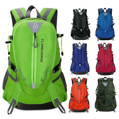 Mens Outdoor Hiking Camping Waterproof Nylon Travel Laptop Rucksack Backpack Bag