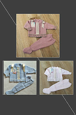Spanish knitted 2 piece sets for boys and girls