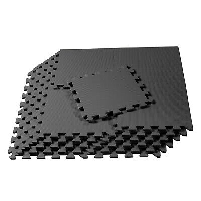 "24 Sf Gray 12"" Tiles Interlocking Foam Floor Puzzle Mat Gym Mats Eva Flooring"