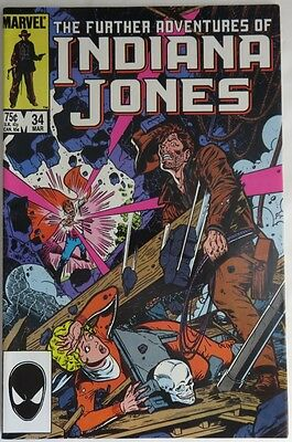 1986 The Further Adventures Of Indiana Jones #34  -  F                (Inv11982)