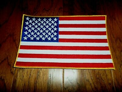 "U.s American Flag Oversized Back Patch 6""X 10"" Full Color Backpatch"