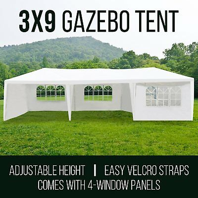 PERFECT OASIS 3x9 GAZEBO PARTY WEDDING EVENT PAVILION White TENT SHADE CANOPY