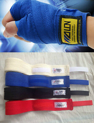 1 Pair Boxing Hand Wraps Gloves Bandages Wrist Fight Protecting Binding Belt