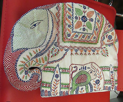Aarong By Brac Elephant Hand Made Embroidered Quilted Tea Cozy Cotton New Wi Tag