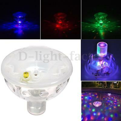 Underwater LED Floating Disco Light Show Bath Tub Swimming Pool Party Water Lamp