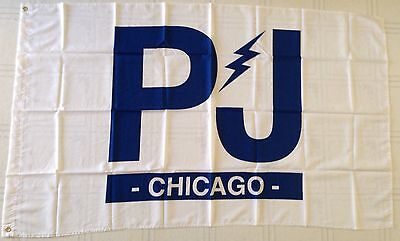 PEARL JAM Chicago PJ HOUSE FLAG 2016 Wrigley Field Cubs W Style World Series