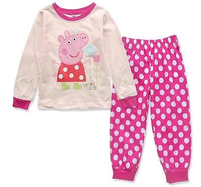 New Boy Girl Pyjamas Sleepwear Peppa Pig PJs Size 2,3,4,5,6,7