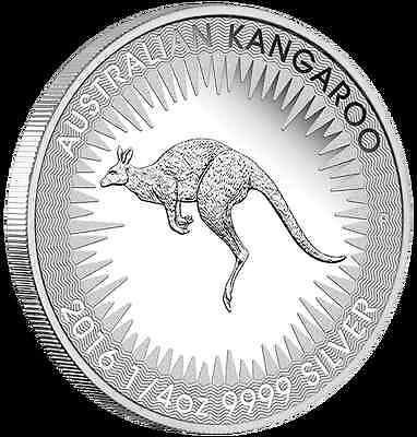 2016 Australian Kangaroo 1/4oz coin- Silver Proof coin  Perth Mint