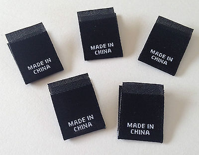 WOVEN COUNTRY OF ORIGIN LABEL MADE IN CHINA or AUSTRALIA PACK OF 100