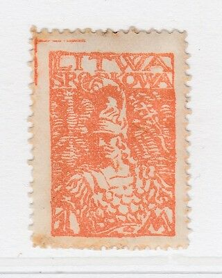 A2P40 CENTRAL LITHUANIA 1920 1m MH*