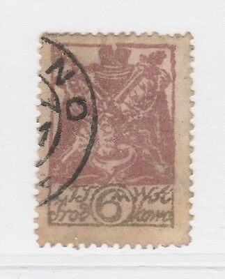 A2P40 CENTRAL LITHUANIA 1920 6m USED