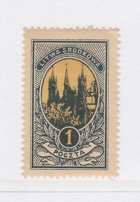 A2P40 CENTRAL LITHUANIA 1921 1m MH*