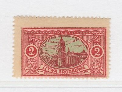 A2P40 CENTRAL LITHUANIA 1921 2m MH*