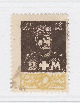 A2P40 CENTRAL LITHUANIA SEMI-POSTAL STAMP 1921 10m + 2m USED