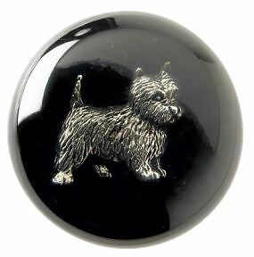 Acrylic and Natural Wood West Highland Terrier Design Dog Walking Stick