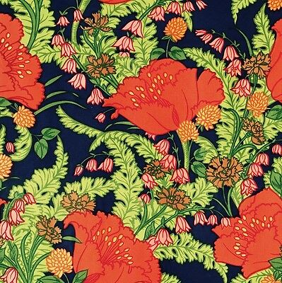 LIBERTY vtg fabric 70s 80s poppies retro floral  DIY cushion art picture