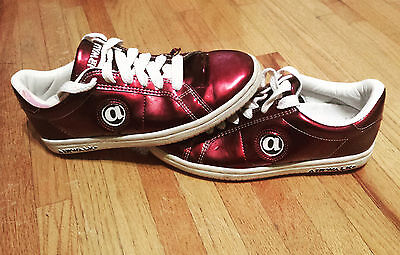 super popular 338b9 c5759 Airwalk Jim Shoes Vintage Shoe Red Patent leather Burgundy RARE WOW