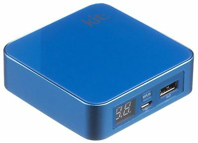 Kit 6000 Mah Portable Power Bank Back Up Battery Charger For Smartphones - Blue
