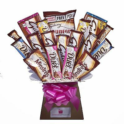Galaxy XL Selection Chocolate Bouquet - Sweet Hamper Tree
