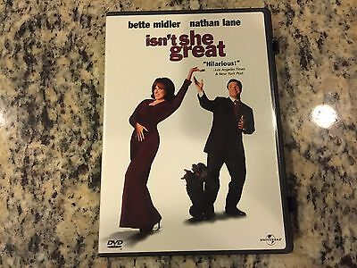 Isn't She Great Dvd 2000 Bette Midler, Nathan Lane Romantic Comedy No Scratches