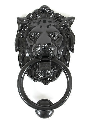 From the Anvil 33018 Black Lion's Head Antique Georgian Period Door Knocker