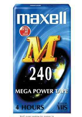 4902580439583  Maxell M240 Video Tape FAST POST