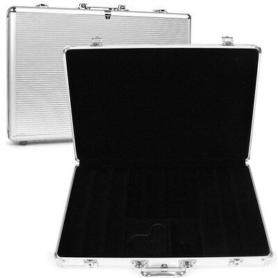 650 Capacity Chip Case - Executive Aluminum Hard Side - Texas Hold'em Series