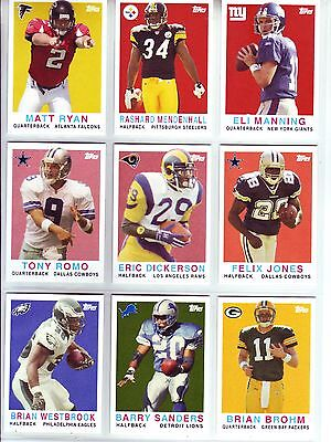 2008 Topps Turn Back the Clock Football In Hobby Store Promo Set 22 Cards 08127728f
