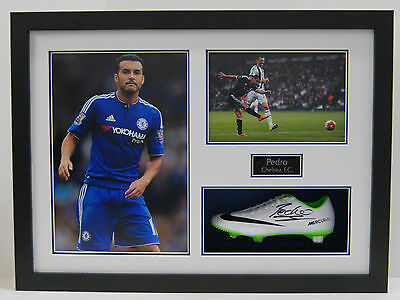 Pedro Genuine Hand Signed & FRAMED NIKE FOOTBALL BOOT Chelsea FC Autograph (B)