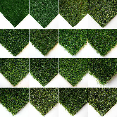 SAMPLE Artificial Grass Astro Garden Realistic Natural Looking Turf & Lawn