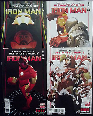 ULTIMATE IRON MAN 1,2,3,4...NM-...2012-3...Matteo Buffagni...Bargain!