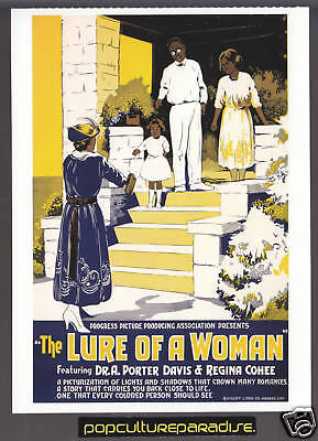 THE LURE OF A WOMAN 1921 Movie Poster Reprint POSTCARD